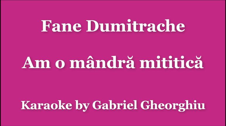 Am o mandra mititica – Fane Dumitrache – Karaoke Negativ Demo
