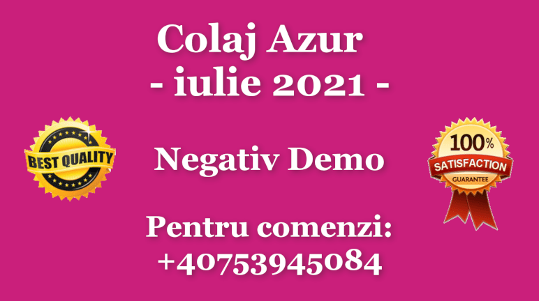 Colaj Azur – iulie 2021 – Negativ Karaoke Demo