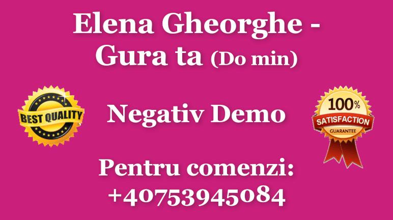 Gura ta – Do minor – Elena Gheorghe – Negativ Karaoke Demo