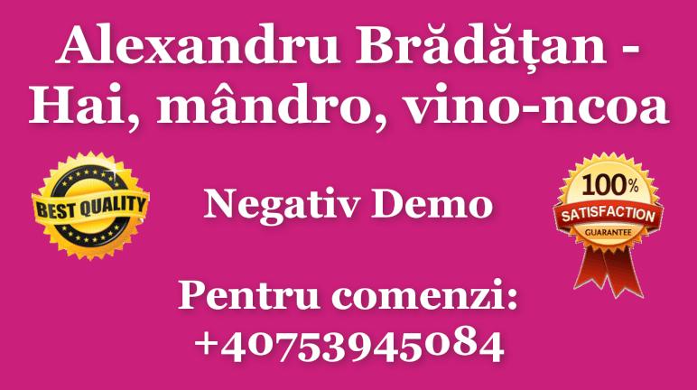 Hai, mandro, vino-ncoa – Alexandru Bradatan – Negativ Karaoke Demo