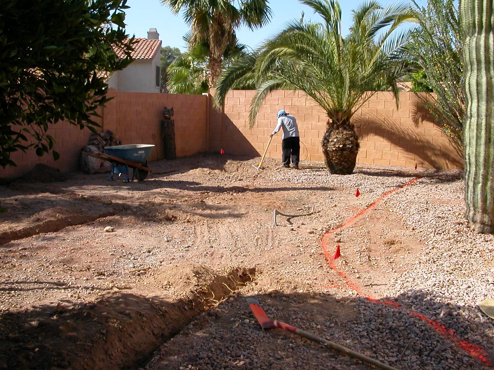 Digging sprinkler lines