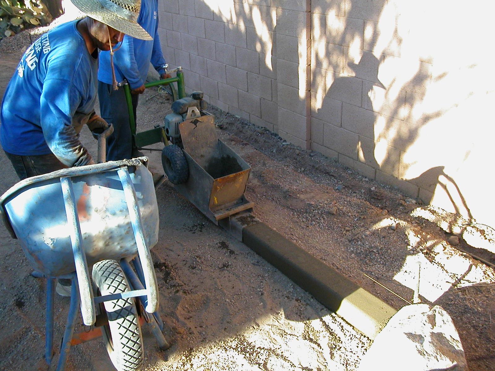 Curbing installation