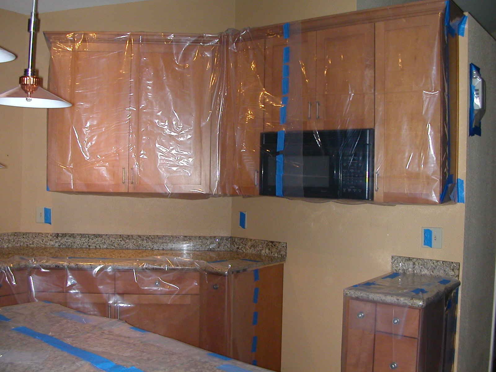 Tape off your cabinets