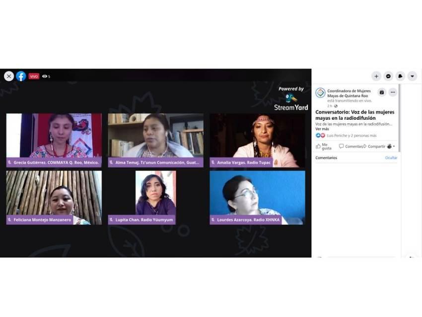Captura de pantalla durante el conversatorio