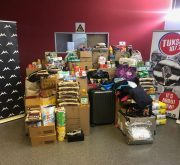 Some of the goods collected for the Back2Varsity Drive