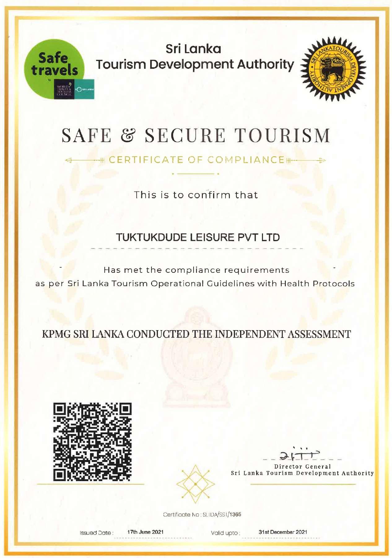 Safe and Secure Tour Operator Sri Lanka