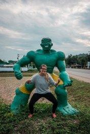 Spaß mit Statuen