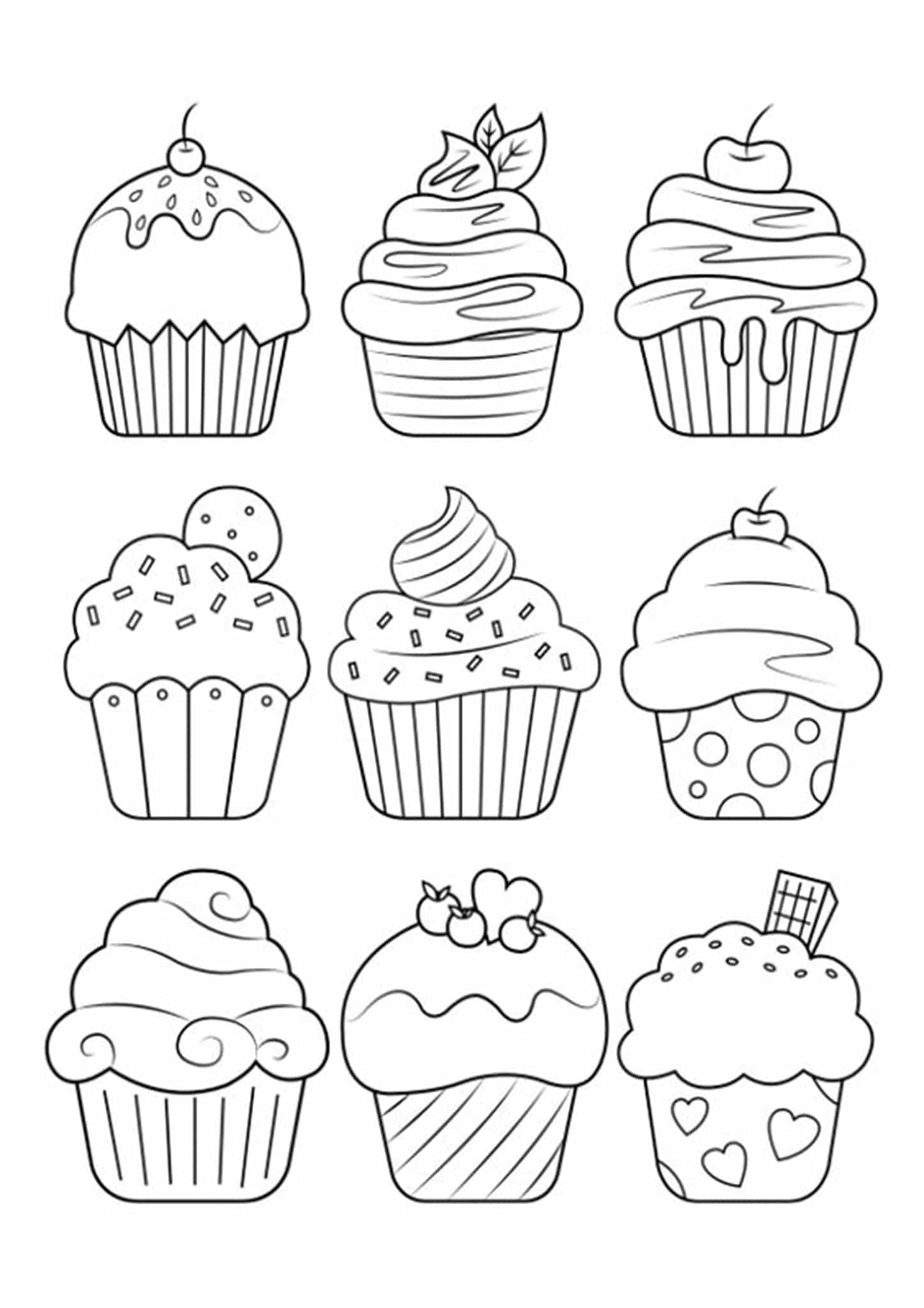 Free Amp Easy To Print Cute Coloring Pages