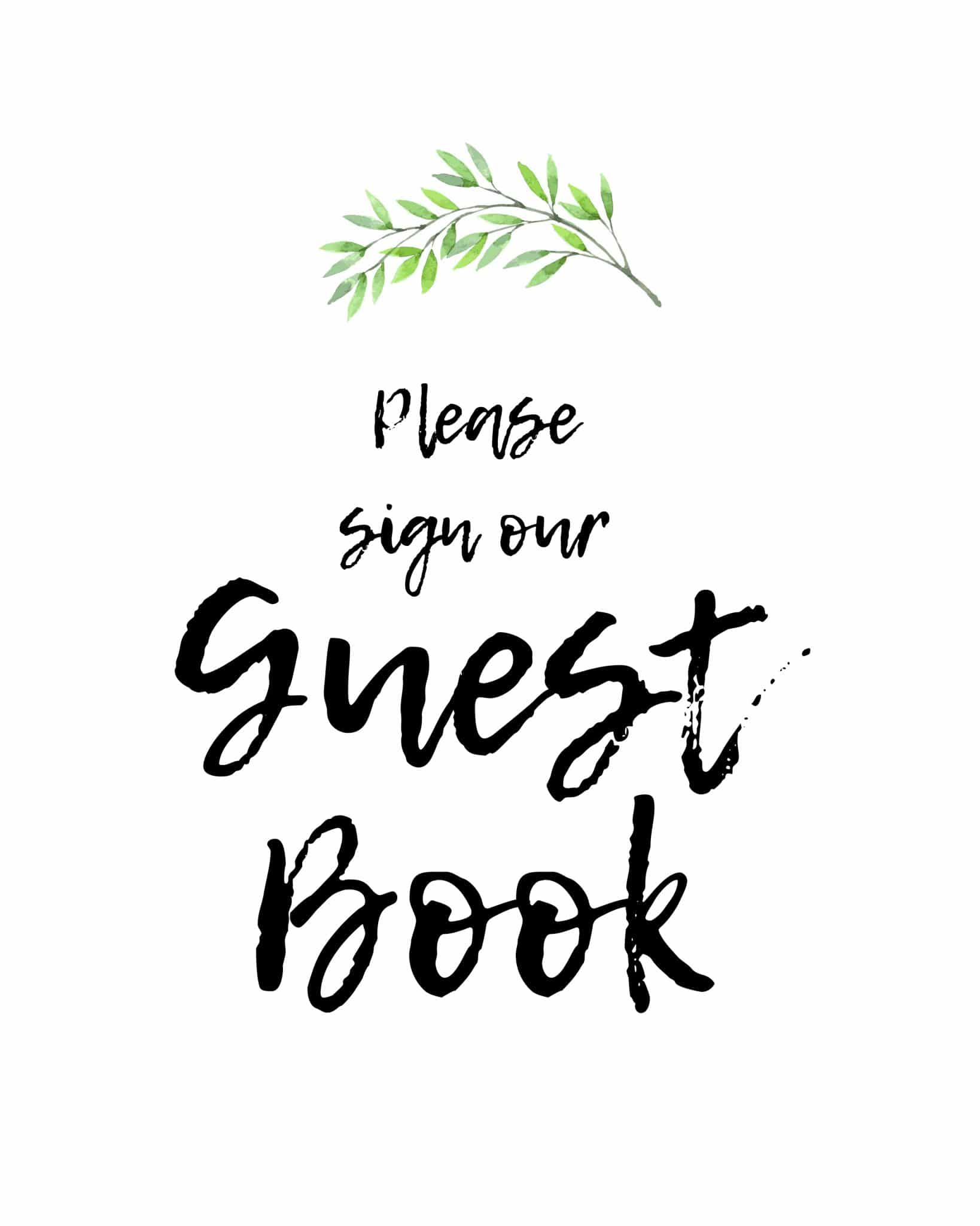Please Sign Our Guestbook