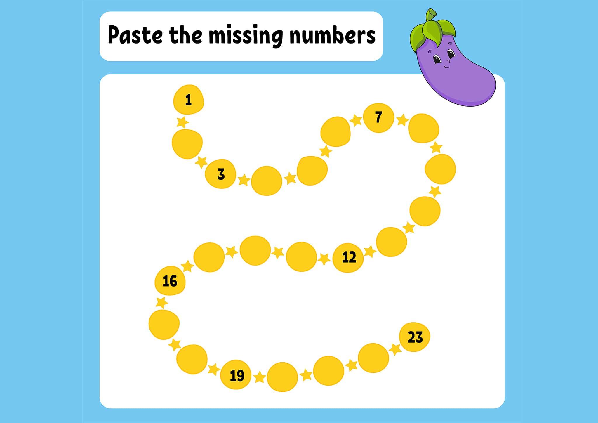 Free Amp Fun Missing Number Worksheets