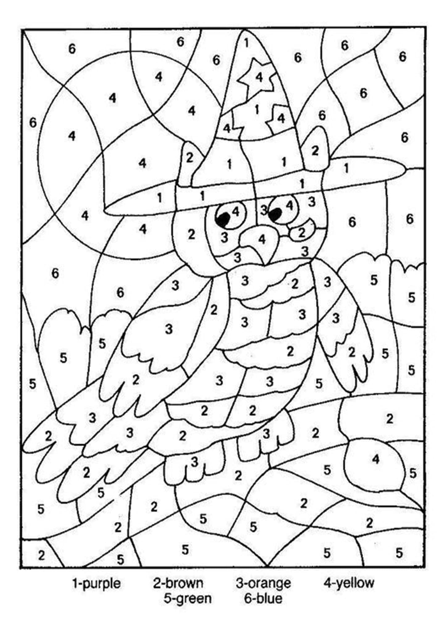 Free Printable Color By Number Worksheets For Kindergarten