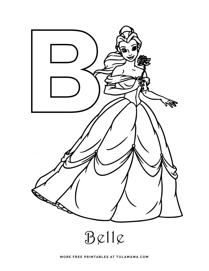 Free Printable Disney Alphabet Coloring Pages Tulamama