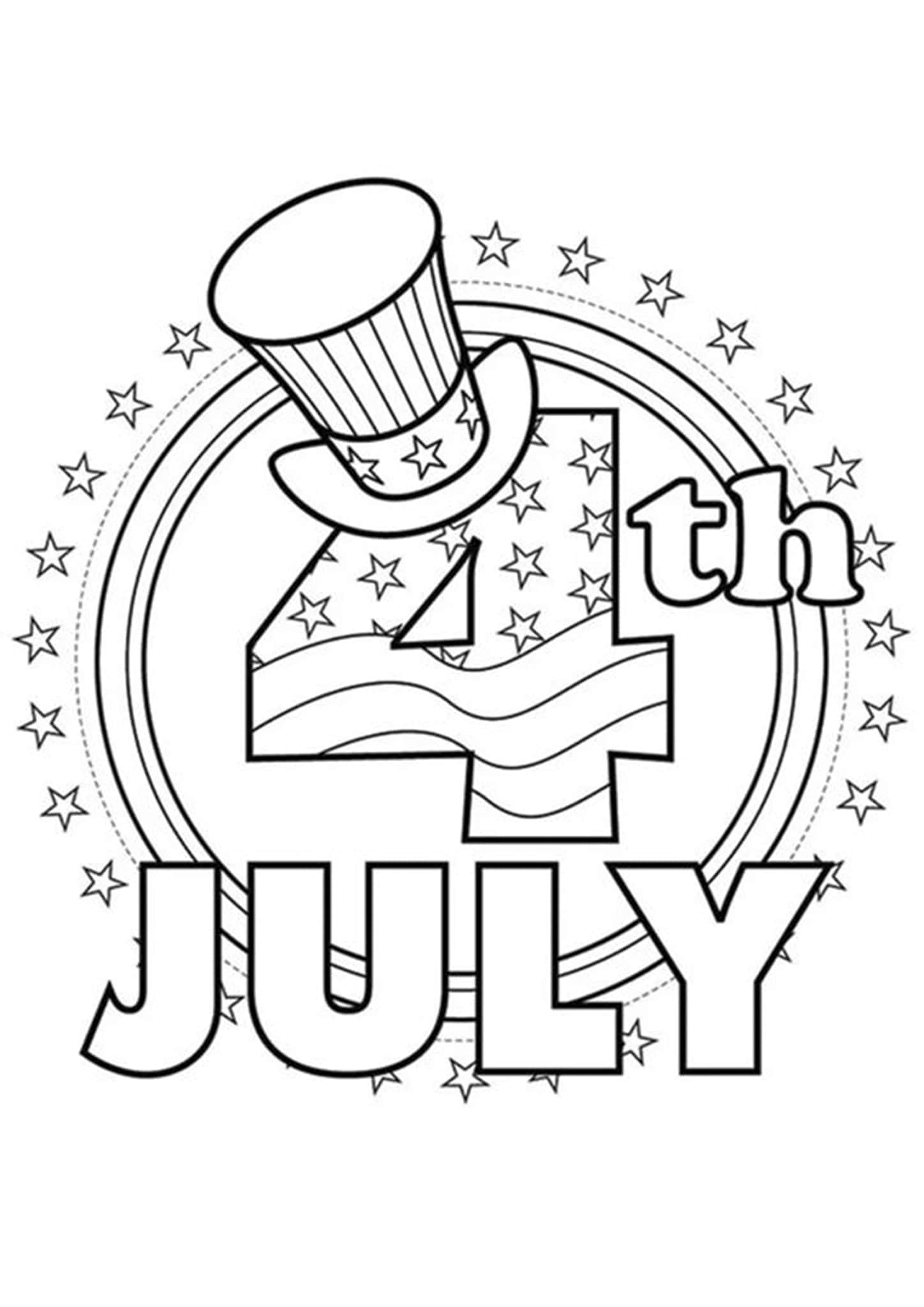 Free Amp Easy To Print 4th Of July Coloring Pages