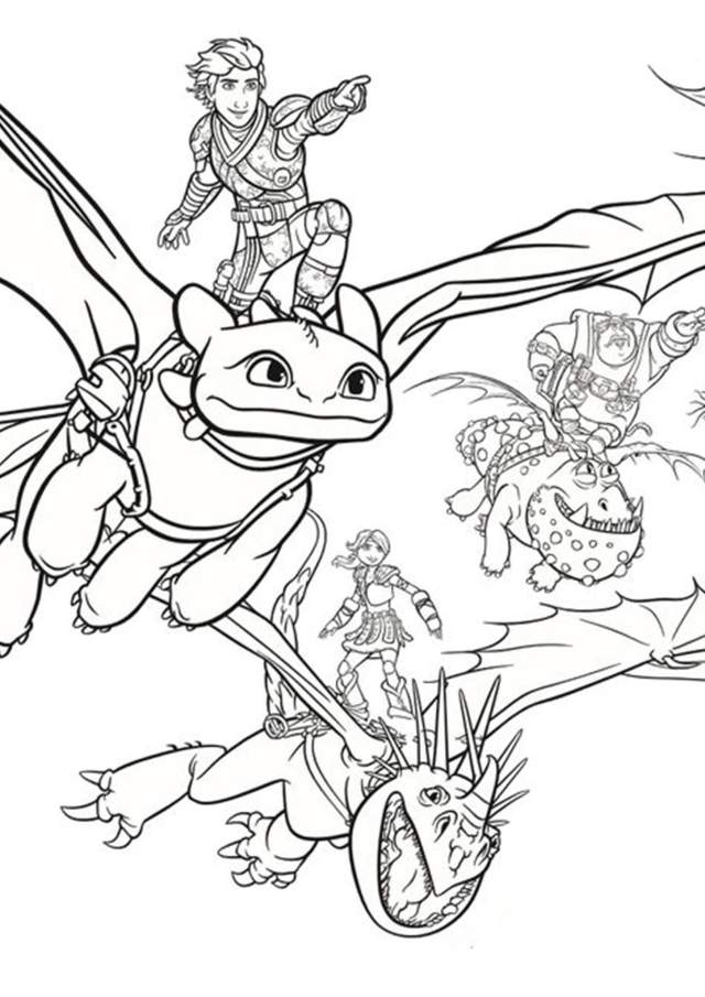 Free & Easy To Print How To Train Your Dragon Coloring Pages