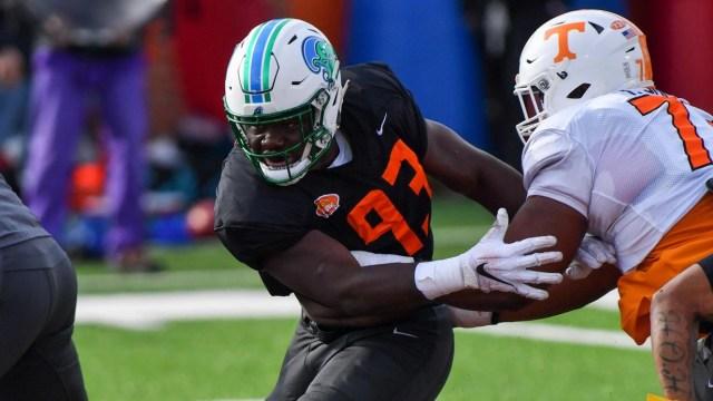 Sample Shines at the Reese's Senior Bowl Game - Tulane University Athletics