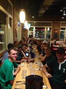 Team dinner at Chili's