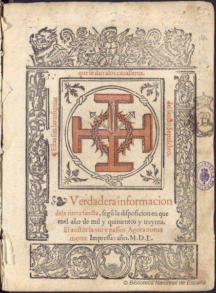 viajes a Tierra Santa en los siglos XVI y XVII
