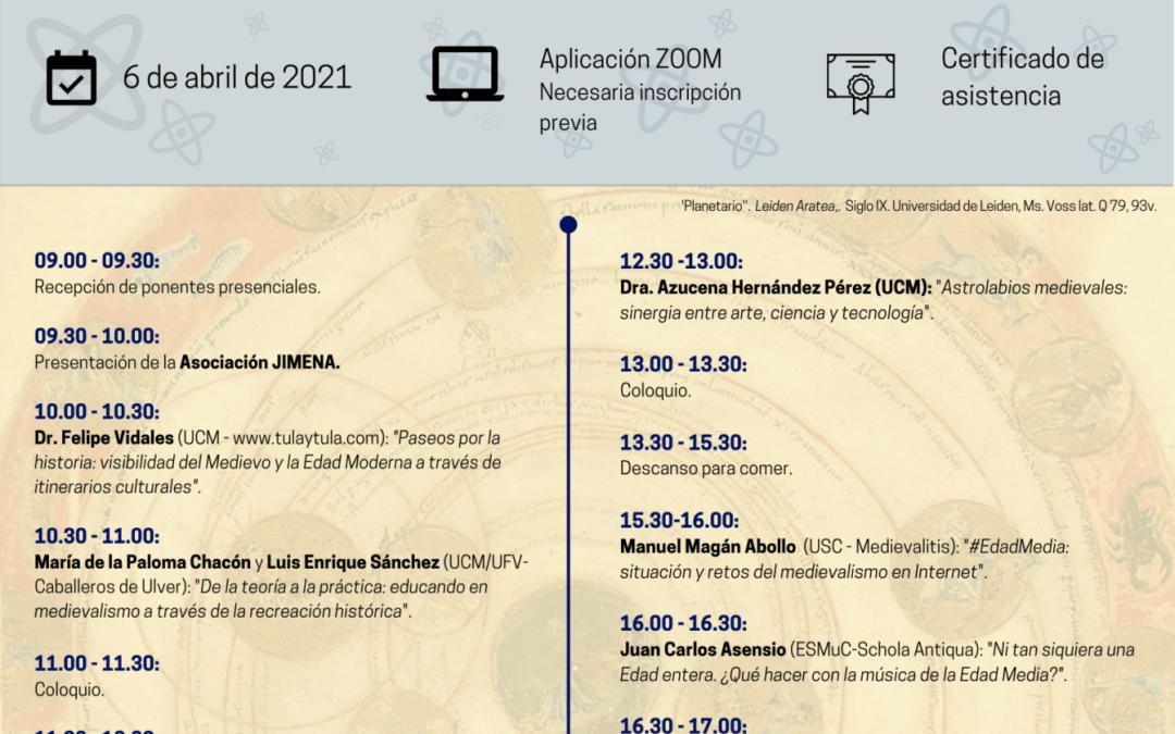 I Seminario JIMENA: Laboratorios de Medievalismo 2.0 (Martes 6 de abril de 2021)
