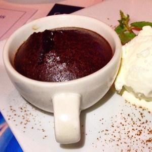 volcan de chocolate en la caffetiere