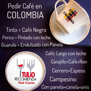 como pedir cafe en colombia