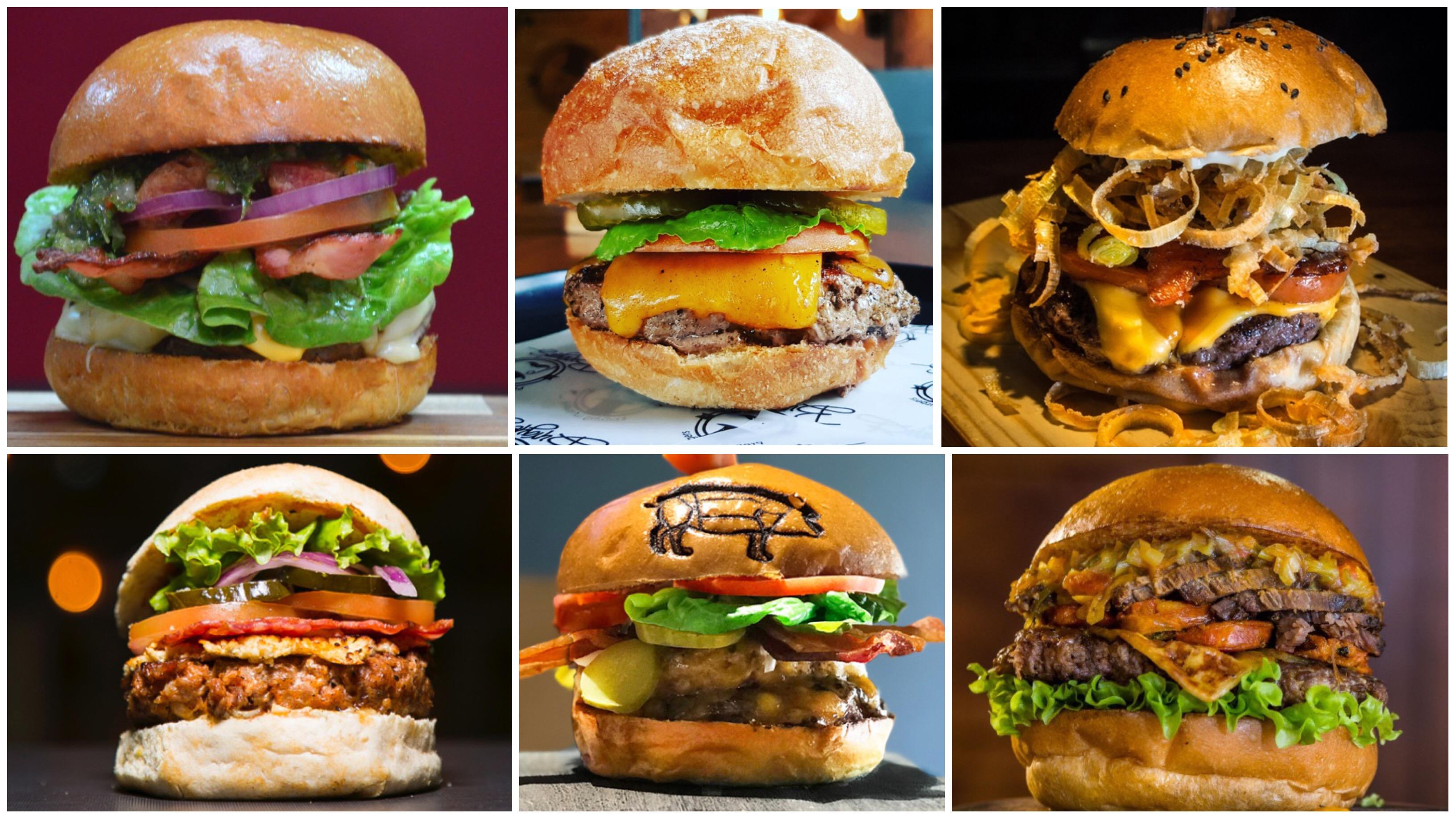 Aquí están las todas hamburguesas del BURGER Master Nacional -por ciudades-