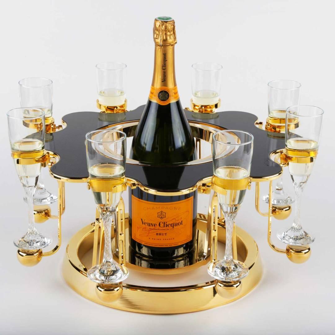 écrin à champagne de luxe carbon édition