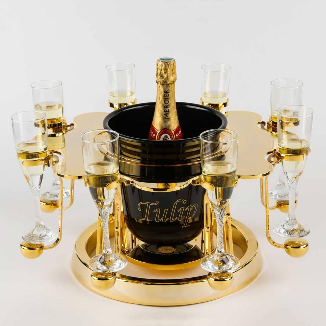 écrin à champagne de luxe or édition
