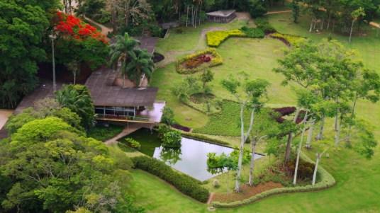 Casa Olivo Gomes, no Parque Municipal Roberto Burle Marx