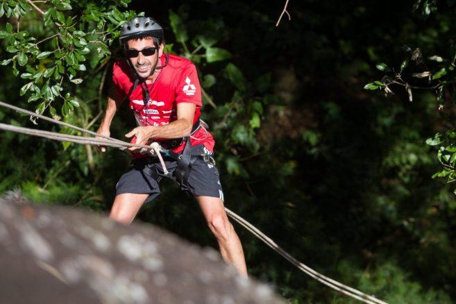 Rapel de 15m foi um dos desafios Crédito: Gabriel Barbosa / Mitsubishi