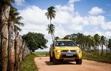 Trilhas percorreram lindas paisagens Crédito: Adriano Carrapato / Mitsubishi