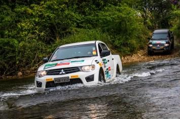 Obstáculos off-road fazem parte da aventura Crédito: Cadu Rolim / Mitsubishi