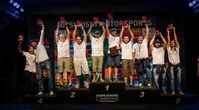 Pódio da categoria Turismo Crédito: Tom Papp / Mitsubishi