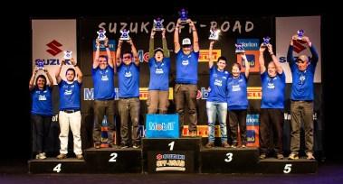 No final de cada etapa, os melhores sobem ao pódio na festa de premiação. Foto: Ricardo Leizer / Suzuki
