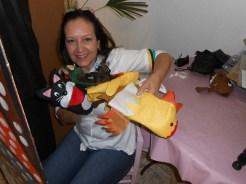 Tânia Mara e o teatrinho de fantoches (Divulgação)