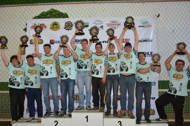Vencedores Categoria B. Crédito Fotos: Flávio Brasil/Copa Scherer 4x4