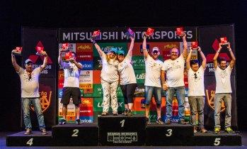 Pódio da categoria Turismo - Adriano Carrapato / Mitsubishi