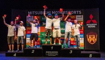 Pódio da categoria Graduados - Adriano Carrapato / Mitsubishi