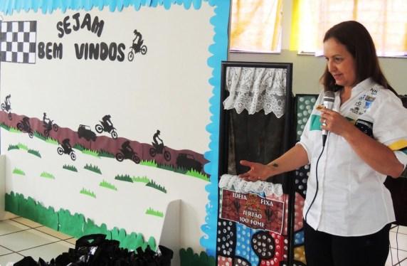 Tânia Mara no Projeto Luz São Manuel em 2015 (Divulgação)