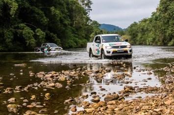 Desafios colocam à prova a força e resistência dos Mitsubishi com tração 4x4. Foto: Cadu Rolim/Mitsubishi