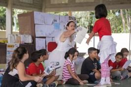Tânia Mara divertindo as crianças (PedroCarvalho//Photo Action)