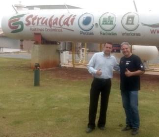 Strufaldi renova com equipe: Anderson Lisboa e Edu Piano (Divulgação)