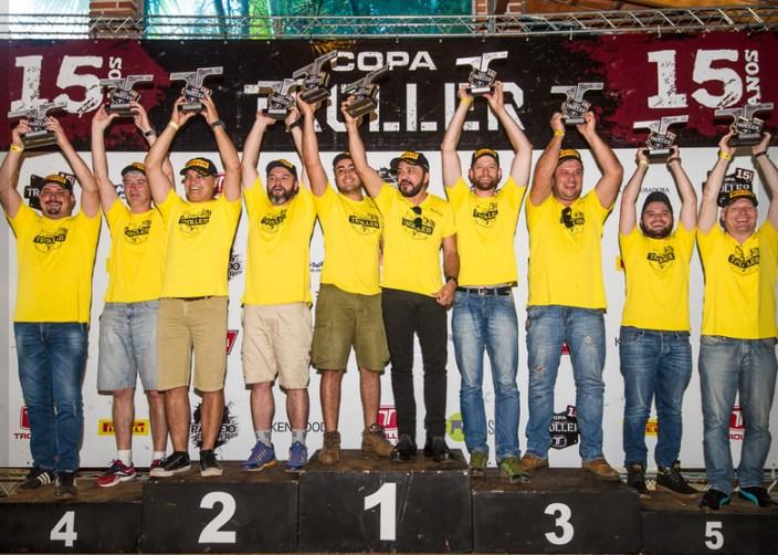 Pódio Copa Troller Graduados (Crédito Divulgação)