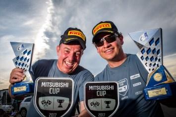 Vitor Muench e Jorge Adriano Peters vencem a categoria ASX RS. Foto: Tom Papp / Mitsubishi