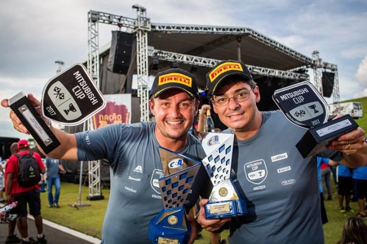 Thiago Rizzo e Leo Magalhães: campeões da L200 Triton ER Master. Foto: Tom Papp / Mitsubishi