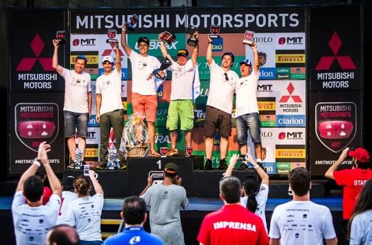Pódio Mitsubshi Motorsports Master 2017 (Crédito Adriano Carrapato)