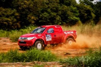 Sandra/Weidner no Rally dos Amigos, fecharam em quinto na Pró Brasil (Marcelo Machado/Fotop)