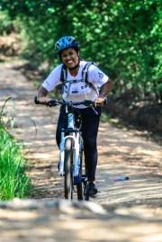 Entre as atividades esportivas, mountain bike. Foto: David Santos Jr/Mitsubishi