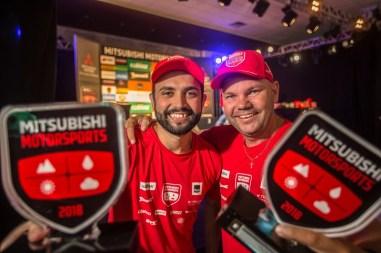 Competidores Mitsubishi Motorsports. Foto: Tom Papp / Mitsubishi
