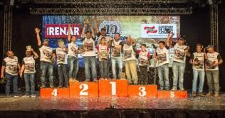 O pódio na categoria Máster. O quarto título de Flávio Kath e Rafain Walendowsky (Jayro Lemos/DFOTOS)