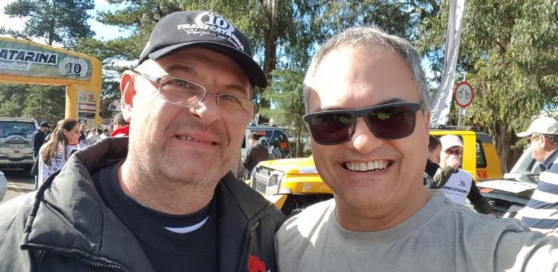 Aurélio Bilhalva - à esquerda da foto (Crédito Divulgação)